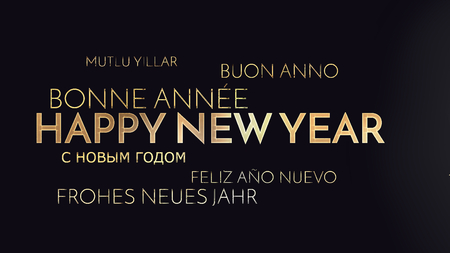 multilingual: multilingual happy new year background