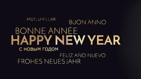multilingual: multilingual happy new year background