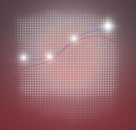 mathematically: business chart success modern 3d render graphic design