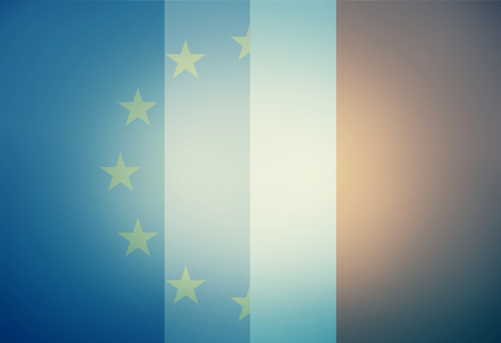allied: Europe France Combined Flag Background