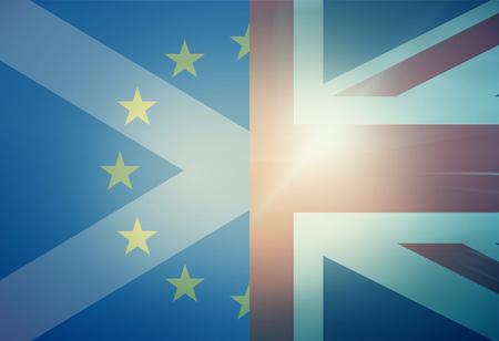 allied: Europe United Kingdom Scotland Flags Background