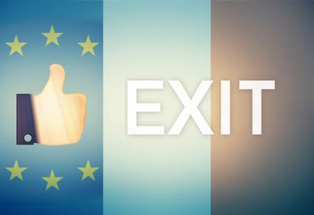 Thumbs up Referendum Exit Europe France Combined Flag Reklamní fotografie - 59177665