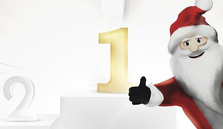 1st place: 1st place best united kingdom Santa Claus 3d render