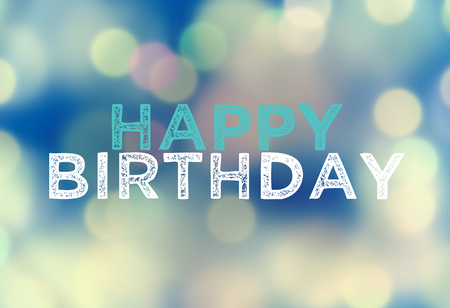 Happy Birthday mix bokeh elements background