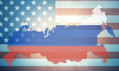 allied: USA Russia states government outline modern map regular design