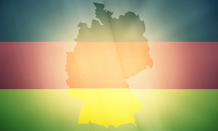diplomatic: germany states government outline modern map regular design Stock Photo