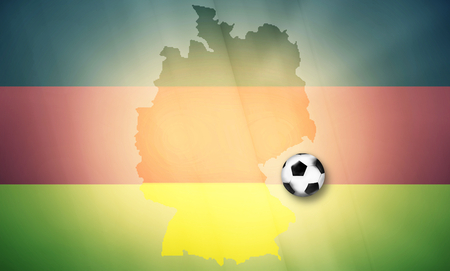 times up: germany soccer ball map regular design