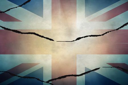 uk map: cracked UK map government flag regular design Stock Photo