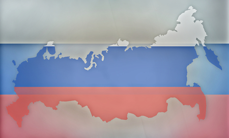 diplomatic: Russia states government outline modern map regular design Stock Photo