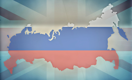 allied: russia UK states government outline modern map regular design
