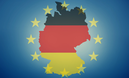 allied: Eu germany states government outline modern map regular design