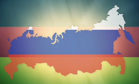 allied: russia germany states government outline modern map regular design