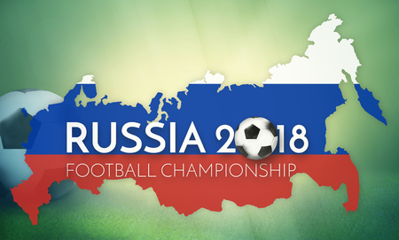 worl: soccer 2018 russia states government outline modern map regular design