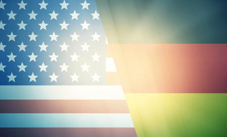allied: USA Germany states government outline modern map regular design