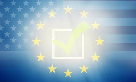 allied: USA Europe states government outline modern map regular design