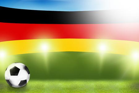 floodlights: football soccer germany sports 3d render