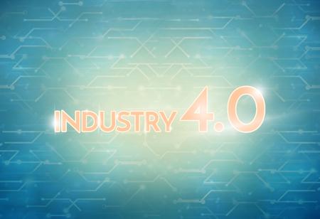 40: Industry 4.0 Background Digital Theme