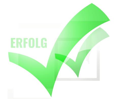 successfull: tick check green okay design Stock Photo