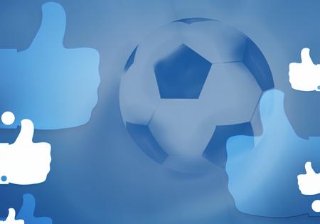 tweets: football soccer ball 3d render background
