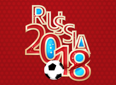 russia: Russia 2018 Soccer Football 3D Render Stock Photo