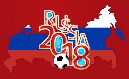 3d render: Russia 2018 Soccer Football 3D Render Stock Photo