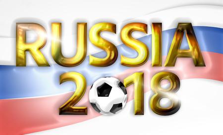 russian  russia: golden 2018 soccer fotoball russia russian 3d render