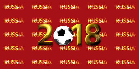 glance: soccer football russia 2018 3d render