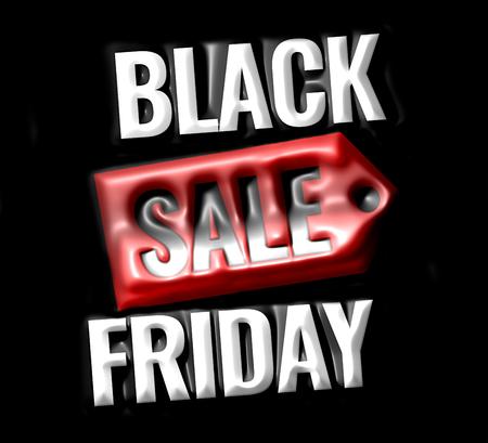 Black Friday Sale promotion display design 3d render design