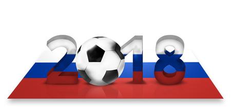 3d render: 2018 russian soccer football 3d render design Stock Photo