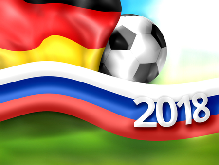 rende: 2018 football russia germany soccer flag background