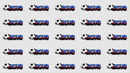 rende: 2018 russia soccer 3d render