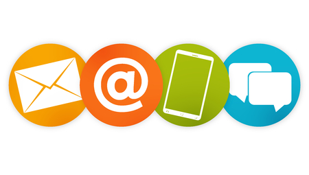 contact us: contact us icon buttons