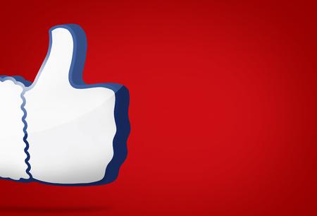 grote duim als pictogram 3D render