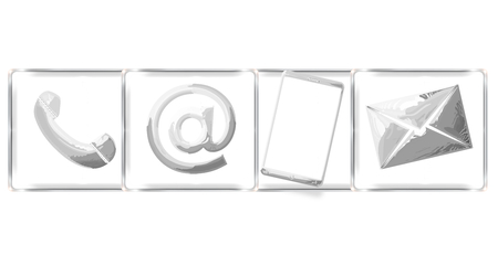 contact us business: contact us business design icons Stock Photo