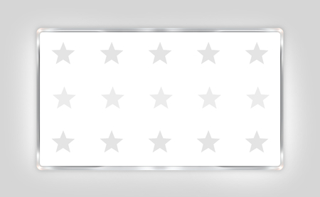 free vote: your text here silver border white design with stars Stock Photo