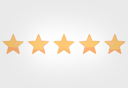 rating: 5 stars rating voting concept graphic design