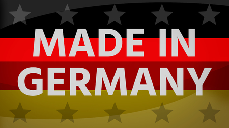 made in germany: Made in germany background german creative flag colors
