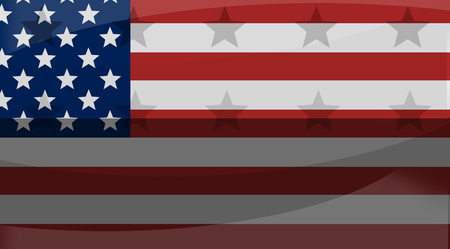 chose: great america creative flag background with stars Stock Photo