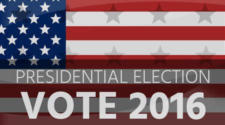 presidential: America Presidential Election 2016 Flag Background