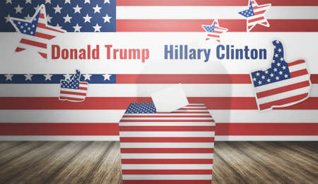 trump: Donald Trump Hillary Clinton presidential election 3d render