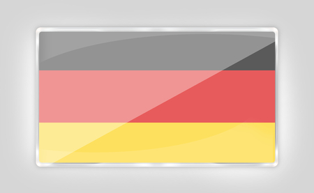 made in germany: creative modern icon button germany style transparency Stock Photo