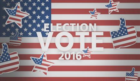 presidential: presidential election 2016 america 3d render