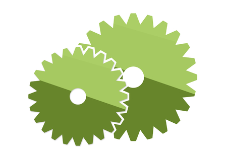 gear or settings icon positive acceptance design Stock Photo