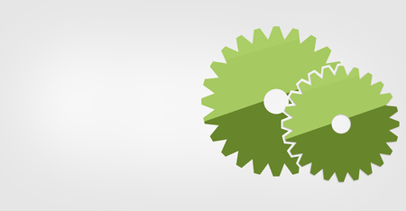 technolgy: gear flat icon design