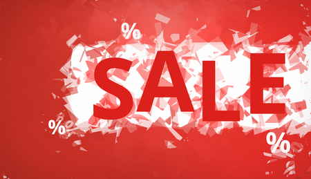 sale red background theme Stock Photo