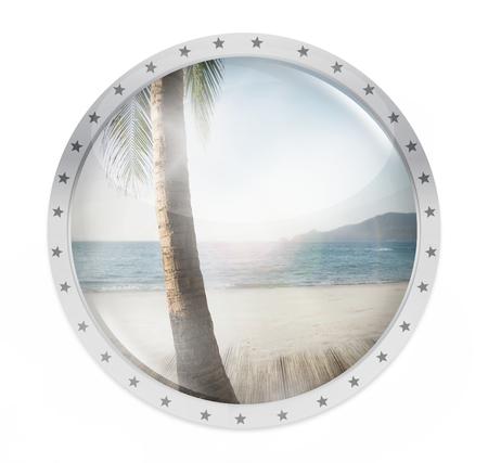 round light glass button icon symbol Stock Photo