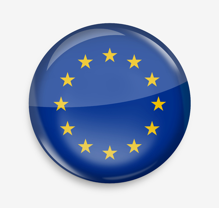 opacity: Europe round opacity button icon 3d render