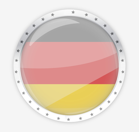 opacity: germany round opacity button icon 3d render