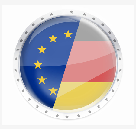 icon 3d: Europe round opacity button icon 3d render