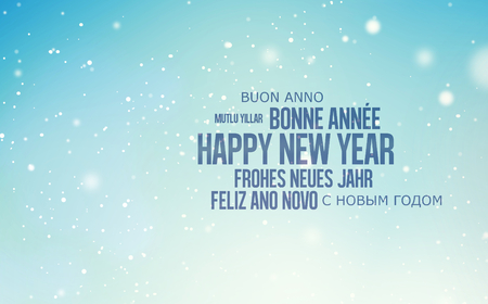 multilingual: multilingual background for Happy New Year